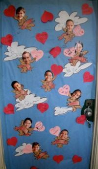 The school had a door decorating contest for Valentine's ...