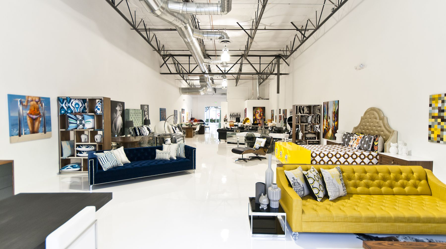 Modern design furniture store photo