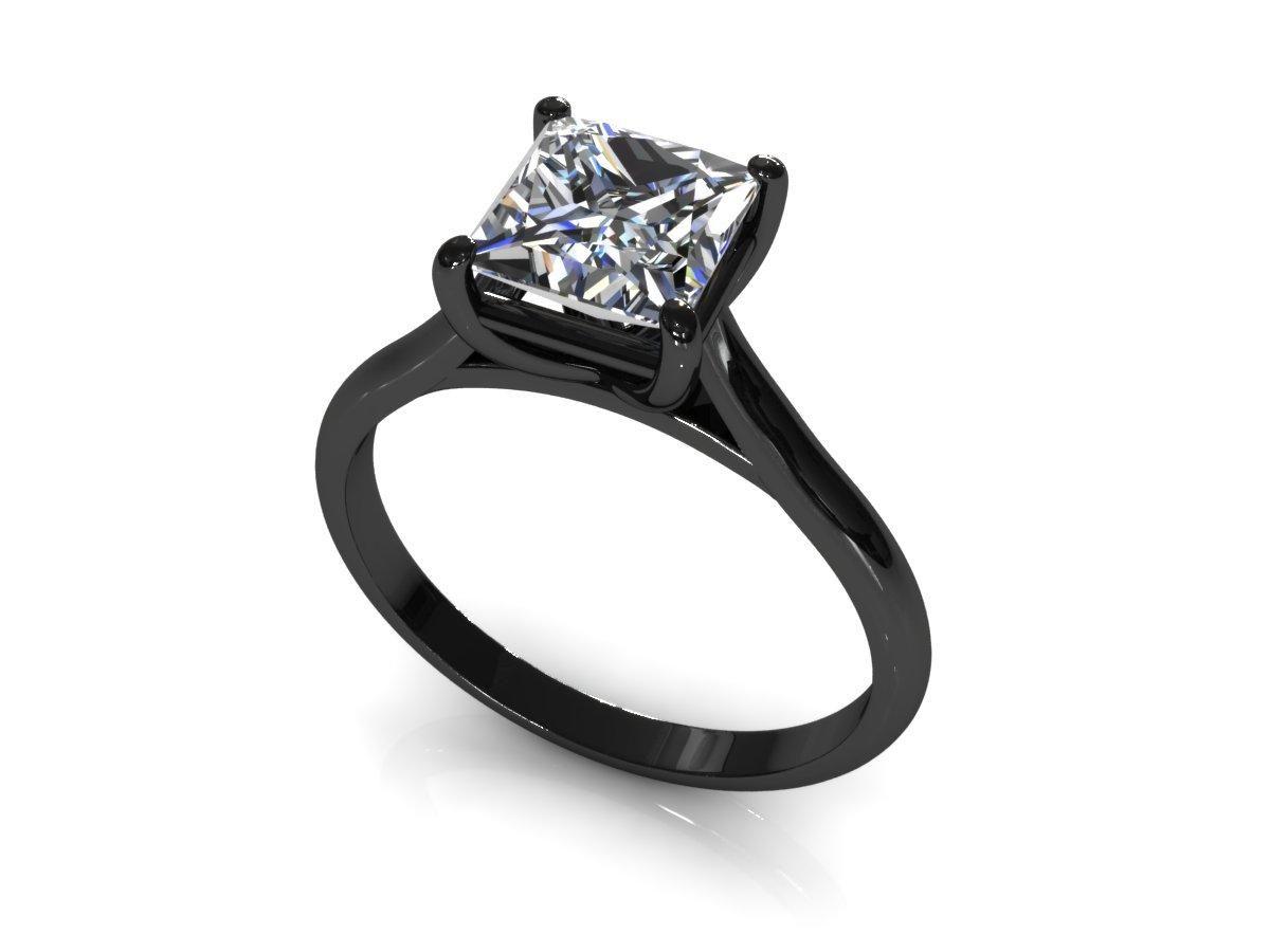 pink diamond wedding band Wedding Rings Black Band Princess Cut Engagement RingsWedding
