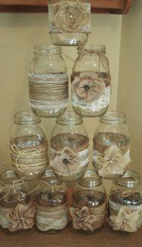 Set of 10 Mason Jar Sleeves, Burlap Wedding Decorations ...