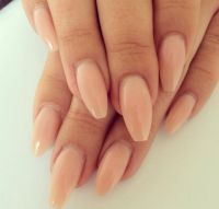 Nude gel nails acrylic coffin tip | Nailspo | Pinterest ...