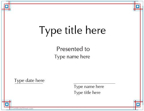 Blank Certificates - Award certificate template - free printable editable certificates