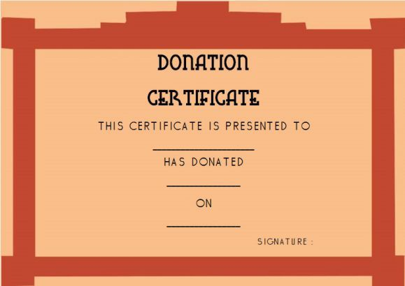Donation Gift Certificate Template Donation Certificate - donation certificate template