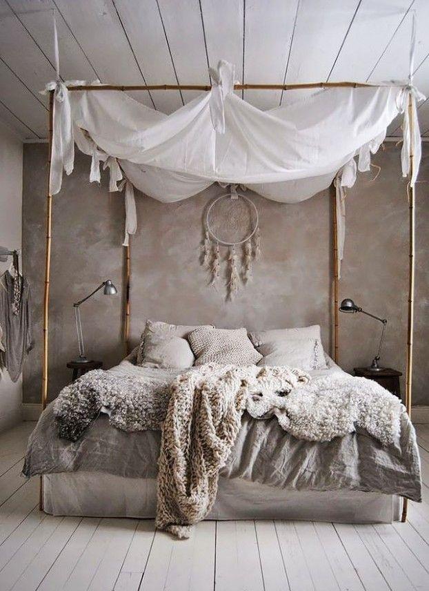 schlafzimmer ideen im boho stil_kleines schlafzimmer gestalten mit - schlafzimmer gestalten wandfarbe