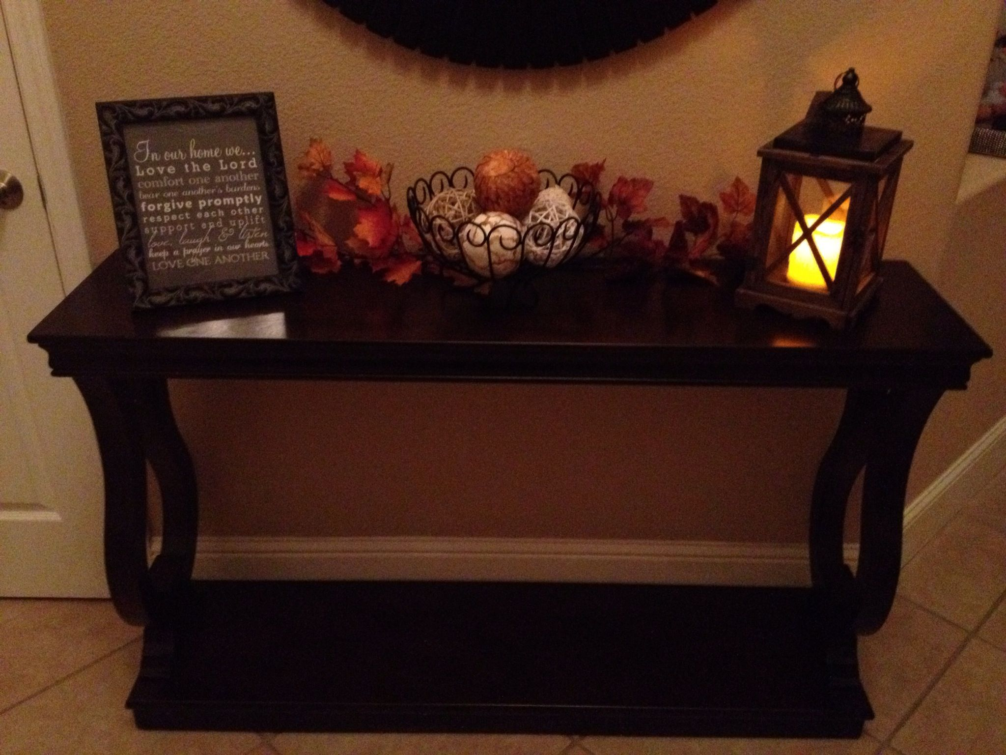 Entrance Table Front Entrance Table Fall Fall Winter Pinterest