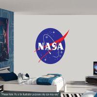 Large NASA Logo Wall Decal Astronaut Spaceship Space ...