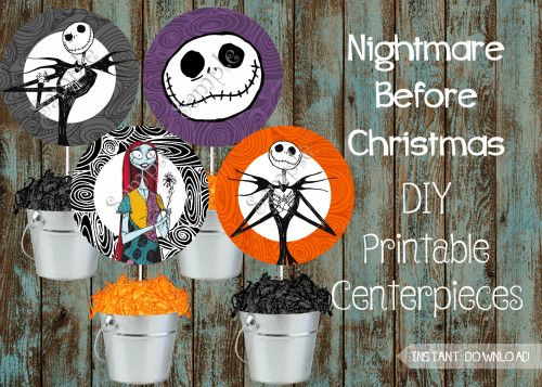 The Nightmare Before Christmas party supplies package, Jack and - nightmare before christmas baby shower decorations