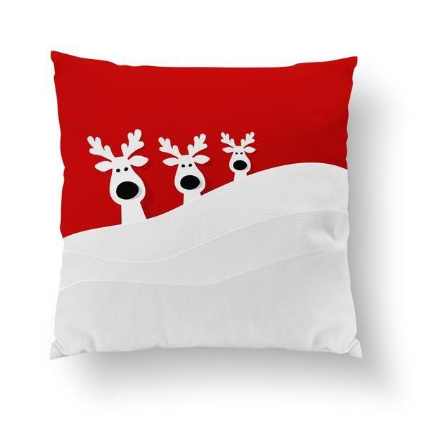 cute raindear decorative pillow Christmas Decor Ideas - decorative christmas pillows