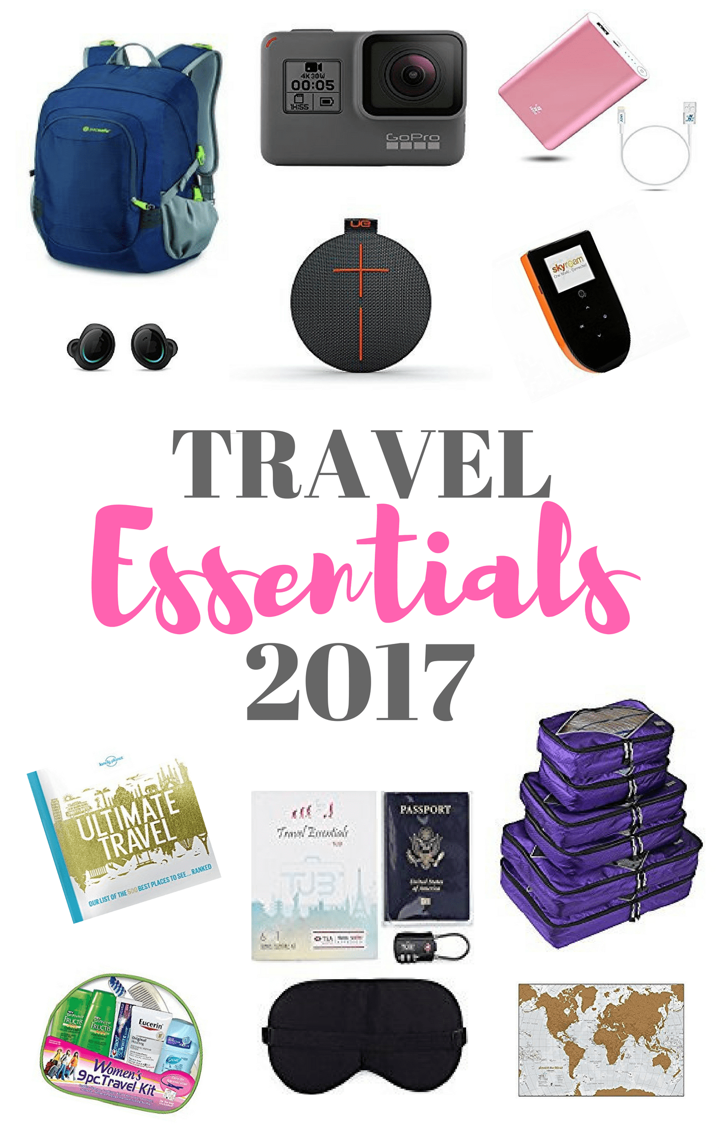 Reis Essentials Essentials Travel Items For 2017 Packliste Unterwegs