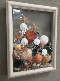 Sea Glass Seashell And Sand Dollar Art Suncather Beach ...