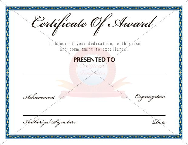 Award Certificate Templates Certificate Template Pinterest - sample scholarship certificate
