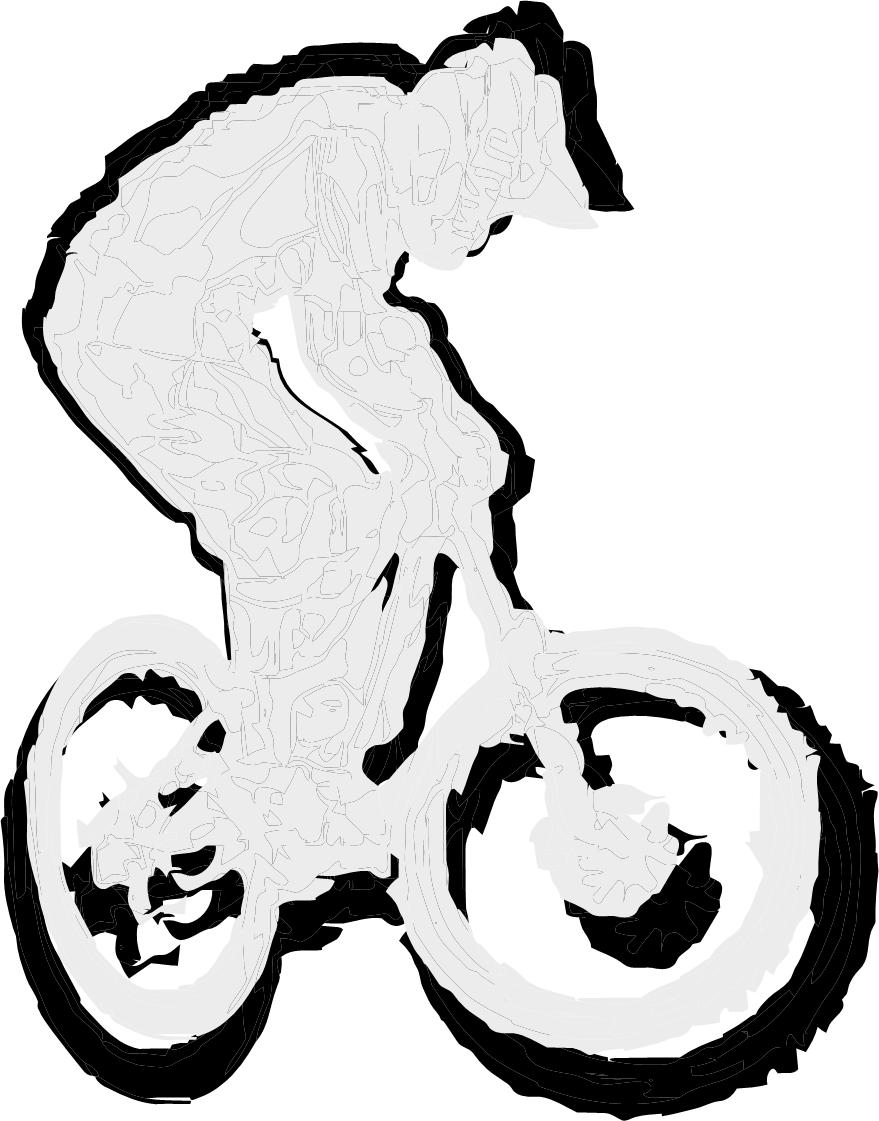 Mountain bike t shirt design vector downhill rider