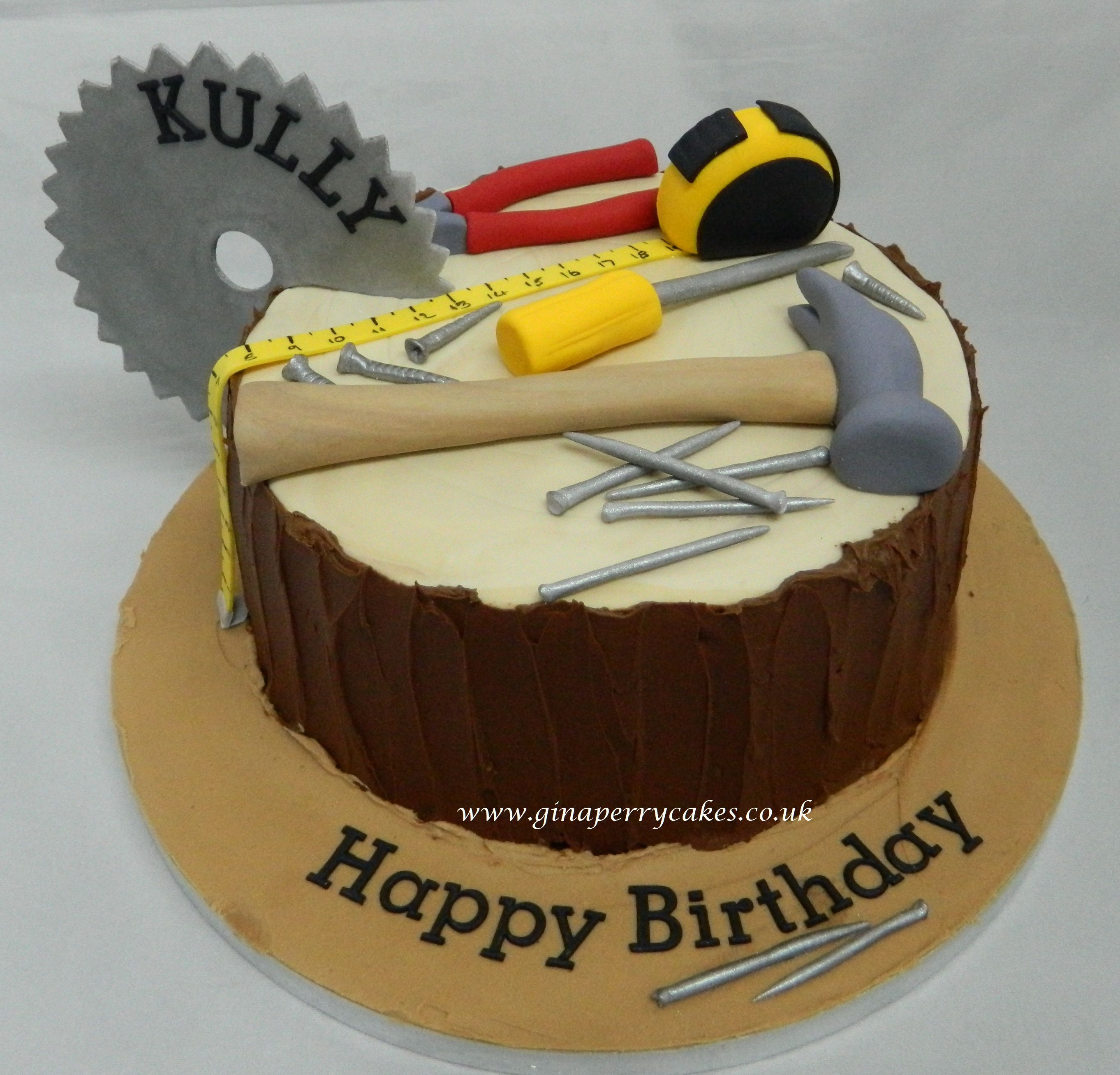 Geburtstagstorte Männer Builder And Carpenters Birthday Cake Torten Pinterest