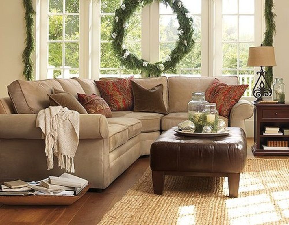 When to Use Sectional Sofa in The Living Room - Architecture Home - beige couch living room