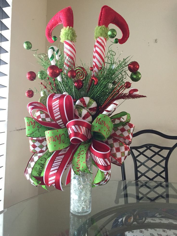 Elf legs christmas tree topper, Elf themed Christmas decorations - christmas floral decorationswhere to buy christmas decorations