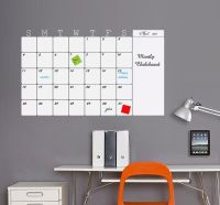 Monthly Whiteboard Calendar Vinyl Wall Decal, Organize ...