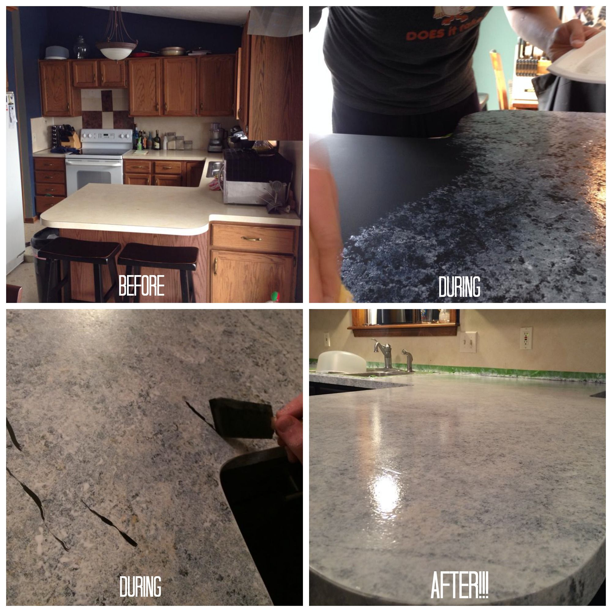 Granite Paint Kit For Countertops Giani Granite Countertop Paint Process Before And After