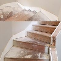 Skirt board layout on winder stairs | Attic | Pinterest ...