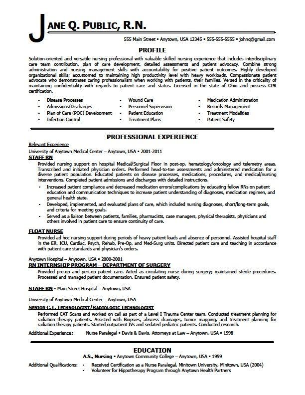 oncology nursing resume samples