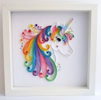 Unicorn quilling wall art Unicorn picture  ...