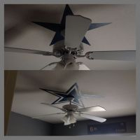 I did this for my son's room a Dallas Cowboys Star above ...