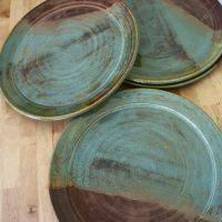 Handmade Pottery Plates - Set of Wheel Thrown Plates ...