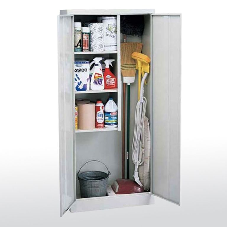 Janitorial Storage Cabinet Storage For Brooms Mops Etc