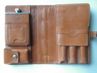 Glenroyal leather travel cigar case, cigar holder, leather