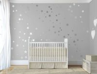 Silver confetti stars decal Twinkle little star decal for ...
