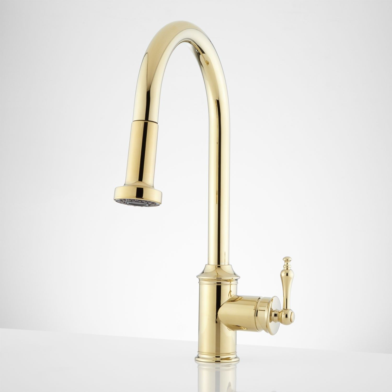 unlacquered brass kitchen faucet Ogden Single Hole Kitchen Faucet with Swivel Spout Oil Rubbed Bronze
