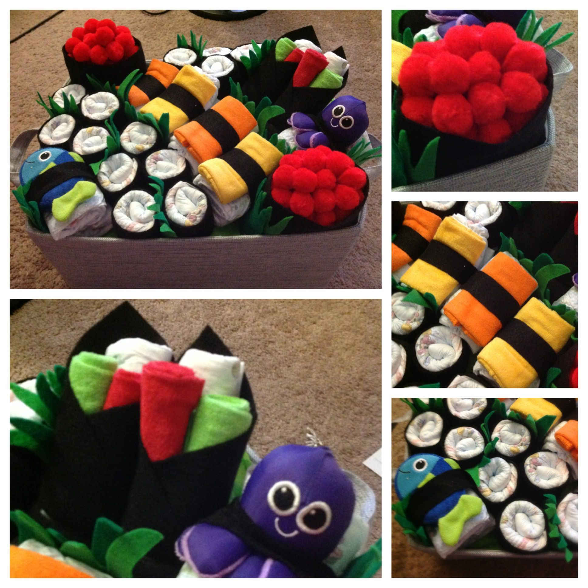 Sushi Torte Ideen Diaper Sushi Gift Basket For My Friends Baby Shower My