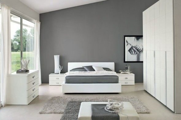 Luxury White Bedroom Decoration Ideas Elegant and Cozy White and - grey bedroom ideas