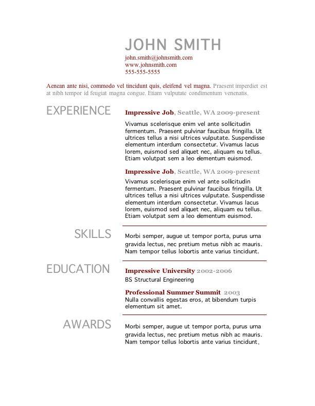examples of resumes skills