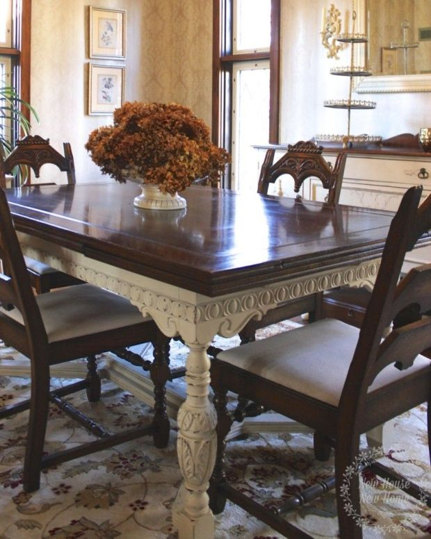 painted furniture dining room table