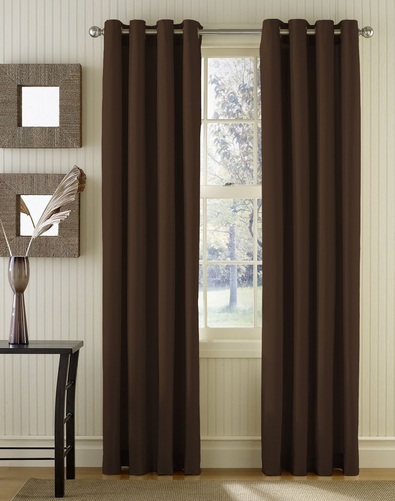 Grommet panel curtains are typically attached to the curtain rod how to hang curtains rod through
