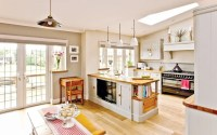 open plan kitchen diner living room country style - Google ...
