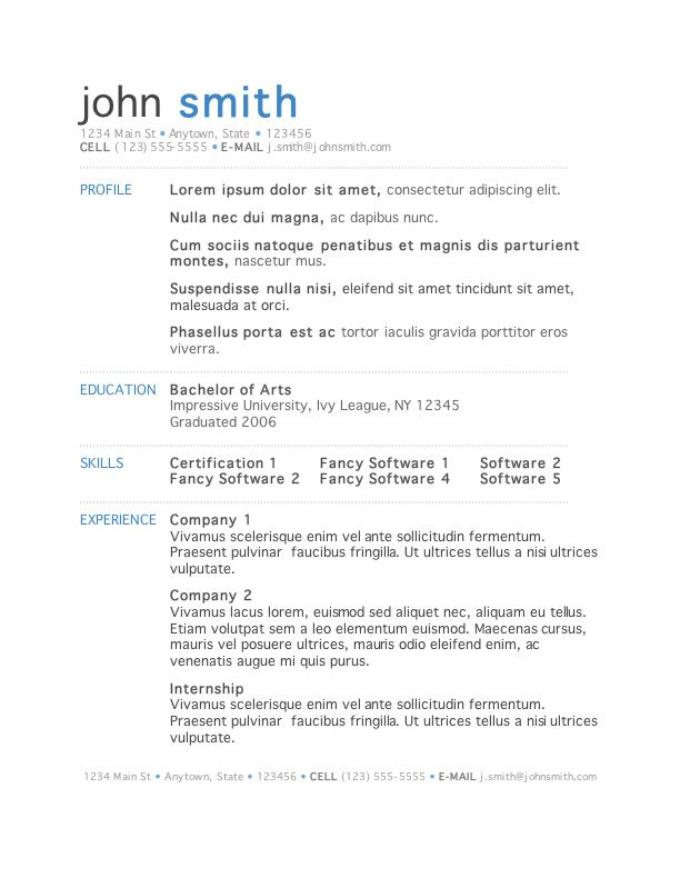 7 Free Resume Templates Microsoft word, Microsoft and Free - formatting resume in word