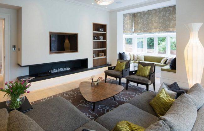 Wohnzimmer modern dekorieren  Wohnzimmer Modern Dekorieren. wohnwand ideen modern gispatchercom ...