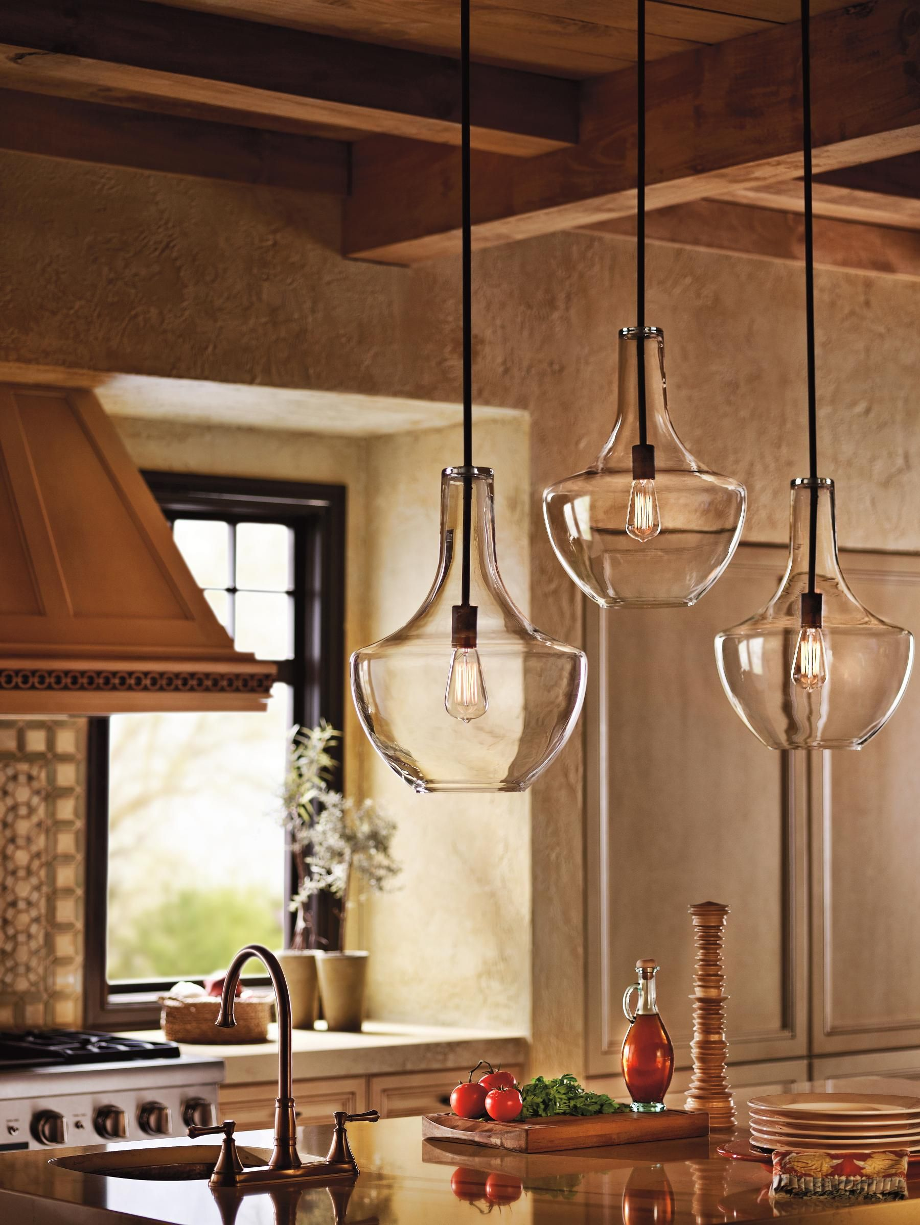 kitchen hanging lights This transitional style pendant is a perfect option to light up and decorate your kitchen