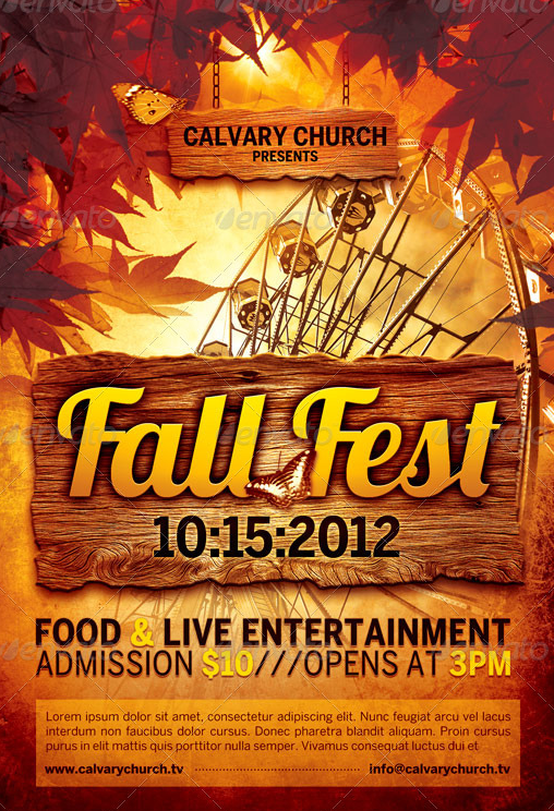 fall festival poster templates