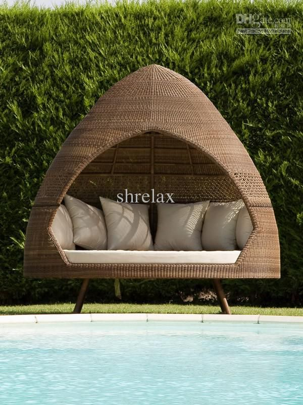 Lounge Sofa Rattan Outdoor Hut Day Bed Pe Rattan Garden Furniture | Garden