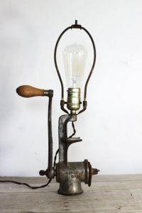 vintage meat grinder lamp by experimentalvintage on Etsy ...
