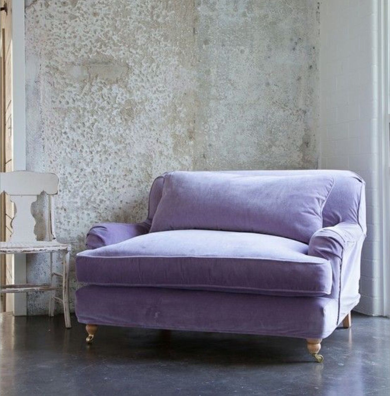 Big Sofa Chair Lilac Loveseat Lavender Violet Purple Aubergine