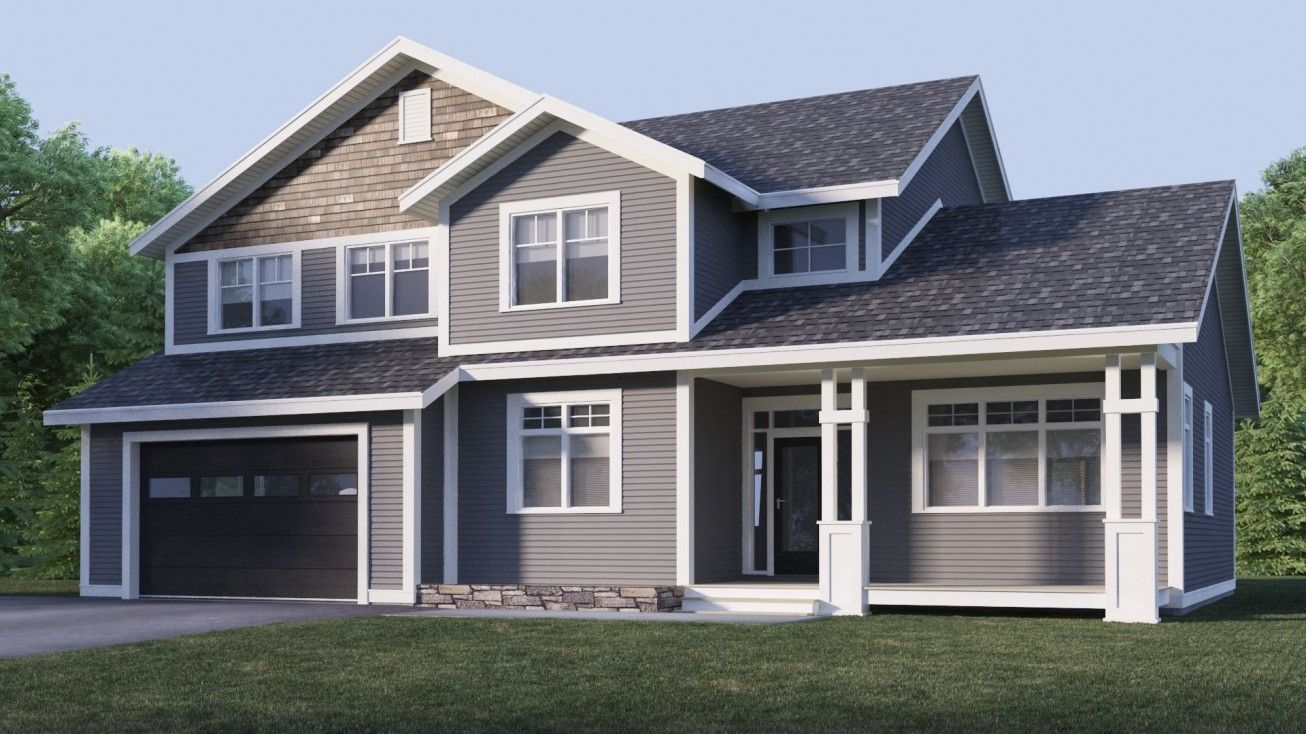 Classic exterior house designsmodern wooden garage door ideas combined with gray exterior wall 2