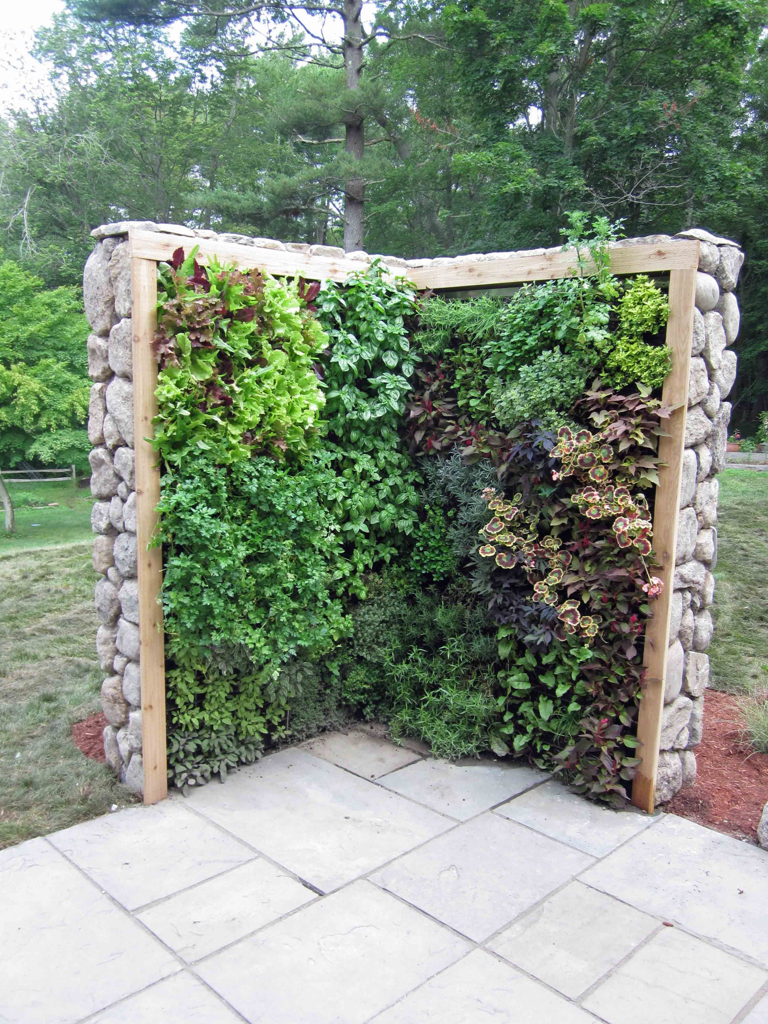 Herb Wall 35 Creative Backyard Designs Adding Interest To