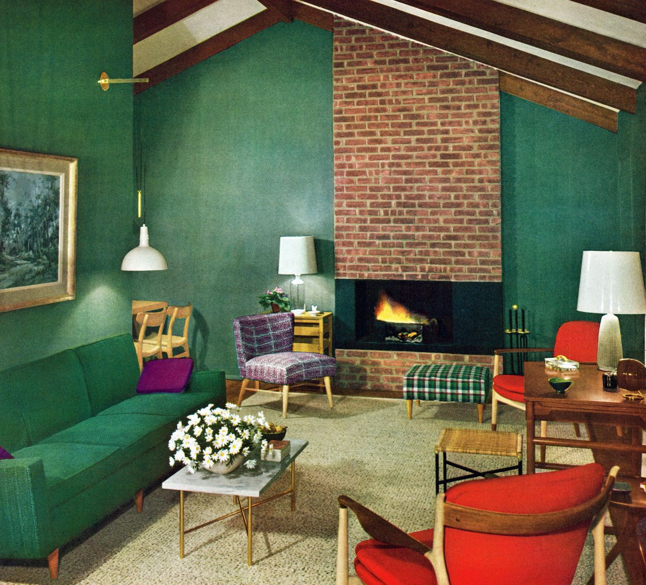 Retro Home Design Mid Century Living Room 1954 I Remember This And Think It