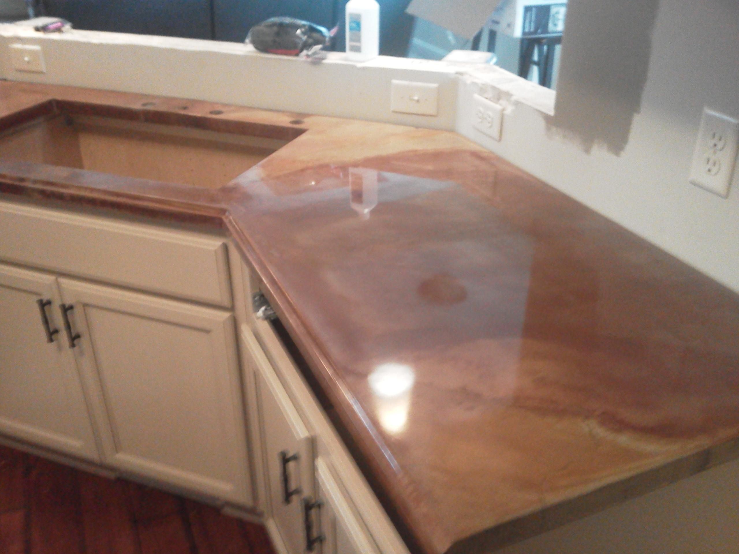 What Kind Of Concrete To Use For Countertops Concrete Countertops Acid Stain Robertson Concrete Llc