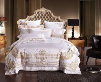 Details about White and Gold Royal Luxury 7pcs Duvet Cover ...