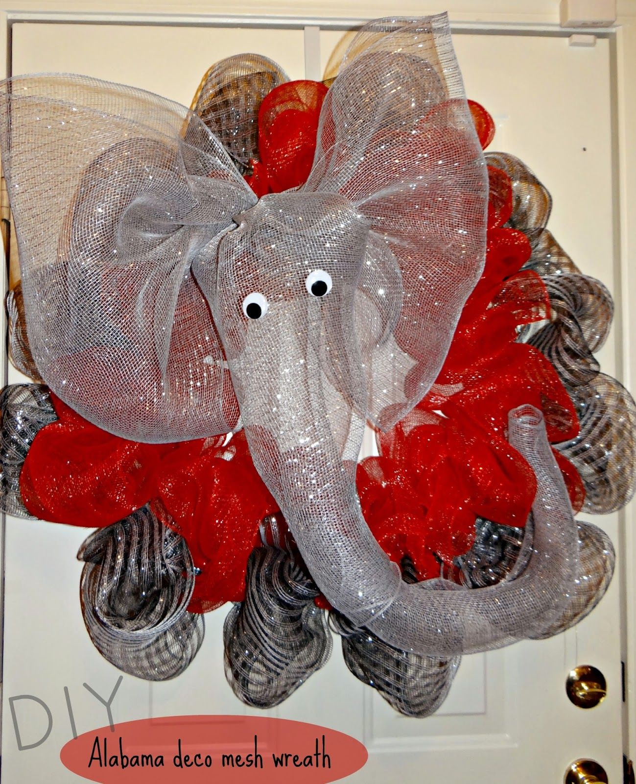 Pinterest Diy Deco Diy Alabama Deco Mesh Wreath Kelseycrumpton Blogspot