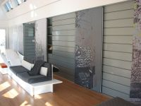 Interior Wall Reveal Panels, preweathered zinc, zinc